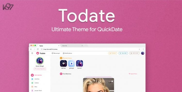 Todate - The Ultimate QuickDate Theme